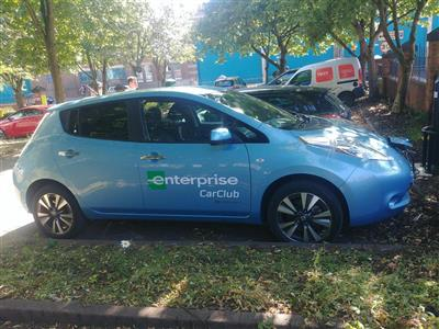 Electric Car Club now at Manvers Street Car Park